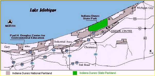 Indiana Dunes State Park Campground Map - Itravelpages